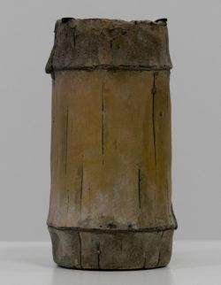 Portacandela Vaso Cemento Bamboo H20 D11