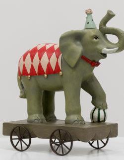 Elefante Poly con ruote H 25 cm